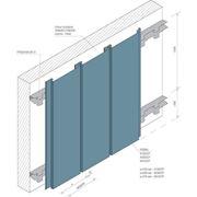 Фасадная рейка Албес A230СР / А240СТ светло-серый А704 оцинкованная сталь фото