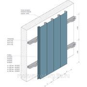 Фасадная рейка Албес AF 150C белый матовый А903 оцинкованная сталь фото