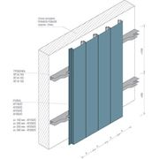 Фасадная рейка Албес AF 150C металлик А738 алюминий фото