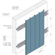 Фасадная рейка Албес A140С / А150С светло-серый А704 оцинкованная сталь фото