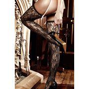 Dolce Vita Чулки черные кружевные с узорчатым орнаментом фото