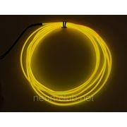 Светящийся провод, холодный неон 3-го пок., желтый - 2,6 мм фото