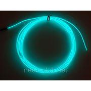 Светящийся провод, холодный неон 3-го пок., бирюза - 2,6 мм фото