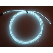 Светящийся провод, холодный неон 3-го пок., белый - 2,6 мм фото