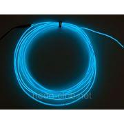 Светящийся провод, холодный неон 3-го пок., синий - 2,6 мм фото