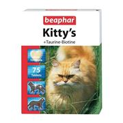 Витамины для кошек Beaphar Kitty's Taurin + Biotin, 75 табл. фото