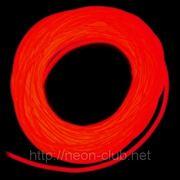 Холодный неон / электролюминисцетный провод 2-го поколения 1,4 мм, красный (розница, опт) фото