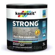 Лак акриловый по бетону, кирпичу Kompozit Strong 1,0 кг фото