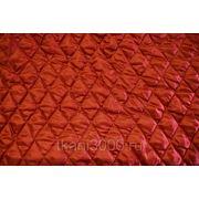 Стежка однотонная прошивная красная фото