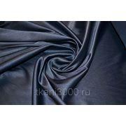 Сатин однотонный стрейч темно - синий фото