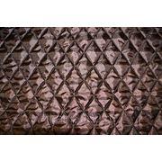 Стежка однотонная прошивная коричневая фото