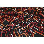 Плательно - блузочная ткань красные прямоугольники фото