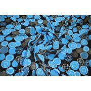 """Плательно - блузочная ткань """" Голубые круги"""" фото"""