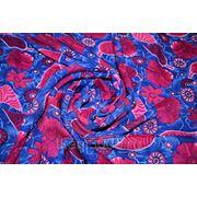 """Плательно - блузочная ткань """" Красные цветы"""""""