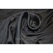 Шелк шифон - черный фото