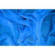 Шелк шифон - голубой фото