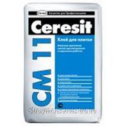 Церезит CM11 Клей для тонкослойного крепления плитки для внутр/наруж работ (25кг) 792214 фото