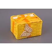 Комплект салфеток из 6шт.30*30 см.в корзинке желтый 100% хлопок (868328) фото