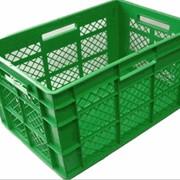 Ящик пластмассовый 600х400х350 перфорированный фото