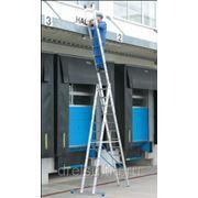 Лестницы трехсекционные универсальные Krause STABILO Трехсекционная алюминиевая лестница с 3x8 перекладинами,123329 фото