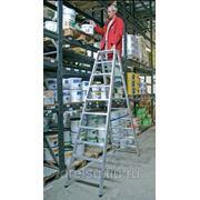 Лестницы-стремянки алюминиевые профессиональные Krause STABILO с 2x6 ступенями, двусторонняя 124746 фото