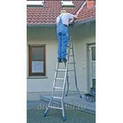 Лестницы-стремянки алюминиевые профессиональные Krause STABILO Шарнирная телескопическая с 4x5 перекладинами 123572 фото