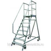 Лестница-платформа krause с семью алюминиевыми ступеньками 820174 фото