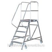 Лестница-платформа krause с пятью алюминиевыми ступеньками 820150 фото