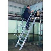 Лестницы-трапы Krause Трап из алюминия угол наклона 45° количество ступеней 5,ширина ступеней 800 мм 822543 фото