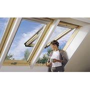 Панорамное деревянное окно GPL фото