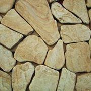 Песчаник галтованный желтый фото