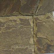 Песчаник серо-зелёный для мощения, толщина 4-5 см фото