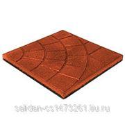 Резиновая плитка 350*350*30 Паутинка фото