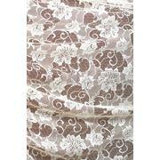Ткани для штор. Кружево на сетке, цвет: кремовый фото
