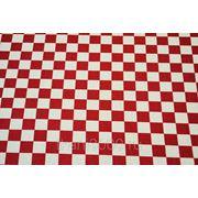 Ткань сумочно - обивочная, красно - белая клетка фото