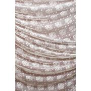 Тюлевые ткани с узорами, цвет: молочный. фото