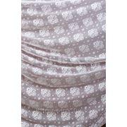 Тюлевые ткани с узорами, цвет: белый. фото