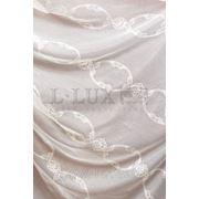 Ткани для штор. Тюль с вышивкой, цвет: бежевый фото
