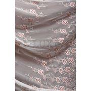 Ткани для штор, тюль с вышивкой, цвет: молоч+ какао фото