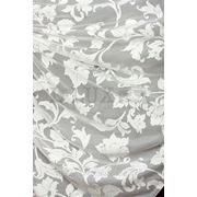 Ткани для штор. Вуаль крупные цветы, цвет: молочный фото
