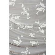 Ткани для штор. Вуаль листья, цвет: молочный фото