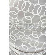 Ткани для штор. Вуаль с орнаментом-цепи, цвет: молочный фото