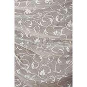 Ткани для штор. Лен, растительный орнамент, цвет: молоко фото