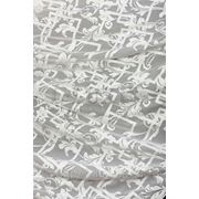 Ткани для штор. Вуаль - растительный орнамент, цвет: молочный фото