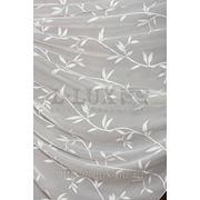 Ткани для штор. Вуаль растительный орнамент, цвет: молочный