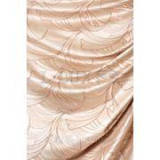 Портьерная ткань с перламутром и легким рисунком. фото