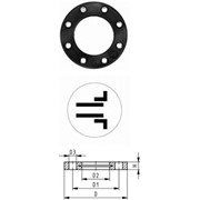 Накидные фланцы, PP-V lля раструбных систем, дюймовые ANSI фото