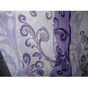 """Ткань Лен """"Хохлома"""" фиолетово-сиреневая фото"""