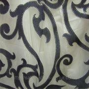 Тюль Черно-белый наряд фото