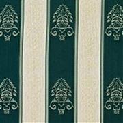 """Жаккардовая ткань""""Полоса""""зеленая фото"""